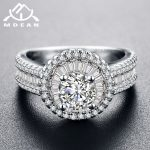MDEAN White & Rose Gold Color AAA Zircon Wedding Rings for Women Wedding <b>Jewelry</b> <b>accessories</b> Bague Bijoux Size 5-12 H1042