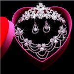 2017 New Fashion Bridal <b>Jewelry</b> Sets Gorgeous Crystal Necklace Earrings crown For Brides Party Prom Wedding <b>Accessories</b> HG-S018J