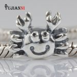 <b>Antique</b> 925 Sterling Silver Crab Beads 4.5mm Hole Charms DIY <b>Jewelry</b> Making Fit European Original Bracelet & Necklace