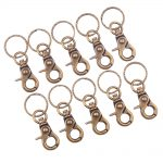 Pandahall Elite <b>Jewelry</b> Findings Iron Swivel Clasps with Key Rings, <b>Antique</b> Bronze, 63x25mm; about 10pcs/bag