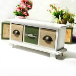 ZAKKA Wooden Storage Box With 3 Drawer Imitate <b>Antique</b> Creative Furniture Storage Cabinet <b>Jewelry</b> Home Organizer Storage Drawer