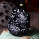 Natural Black Obsidian Pendant Animals Toads Pendant Frog Pendant Necklace Bring Wealth Men's <b>Jewelry</b> Chain <b>Accessories</b>