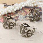 100pcs/Lot ring blank with Cameo Tray,<b>Antique</b> Bronze Ring setting,Handmade DIY Zakka <b>jewelry</b> Finding