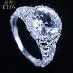 HELON 10MM ROUND SHAPE ENGAGEMENT WEDDING ENGRAVING REAL 4.17ct White Topaz RING 10K White Gold PAVE DIAMONDS <b>ART</b> <b>DECO</b> <b>JEWELRY</b>