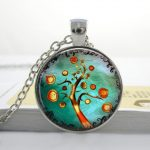 Wholesale Cameo Tree of life <b>art</b> <b>deco</b> necklace christmas tree Necklace X-MAS Tree <b>jewelry</b> <b>art</b> charm Pendant Necklace