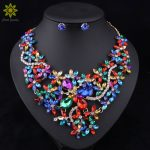 5Color Bridal <b>Jewelry</b> Sets Wedding Necklace Earrings For Brides Party <b>Accessories</b> Gold Color Crystal <b>Jewelry</b> Sets For Women