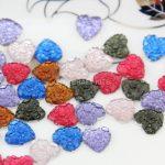 700pcs mixed colors Matte <b>art</b> <b>deco</b> Hearts cameo filigree resin Cabochons DIY Flatback Appliques foiled rhinestone gem Cabs D25