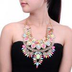 Chic <b>Antique</b> Metal Rhinestones Retro Collar Statement Necklaces Women Short Vintage Necklaces Indian <b>Jewelry</b>