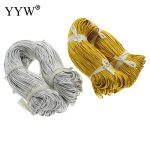 YYW Long Length 100m/PC 1.5mm Gold-color and Silver color Elastic Nylon Cord <b>Jewelry</b> <b>Accessories</b> DIY Making Thread String Cords