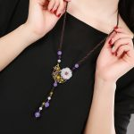 Vintage Long Necklace Trend Necklace Chinese style Female Design Handmade <b>Jewelry</b> <b>Accessories</b> Gift