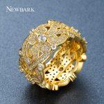 Newbark Double Infinity Ring for Women Cubic Zirconia Wide Engagement Wedding Rings Love Fashion <b>Accessories</b> <b>Jewelry</b> Gift