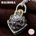BALMORA 925 Sterling Silver Dragon Head Pendants for Men Gift <b>Accessories</b> Vintage Animal Silver <b>Jewelry</b> Without a Chain SY14409