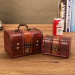 Retro <b>Antique</b> Wooden Gift Box European Style Princess <b>Jewelry</b> Case Home Desktop Decorative Box Cosmetic Office Supplies Storage