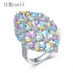 2018 new ring Pastel color Horse eye blue yellow green pink crystals Bohemia statement <b>jewelry</b> Luxury <b>Accessories</b> Fashion rings