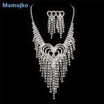 Mamojko Luxurious Rhinestone Necklace Earring Set For Women Wedding Fashion Bridal Dress <b>Accessories</b> Charm <b>Jewelry</b> Set