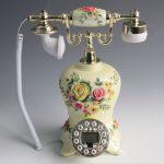European <b>antique</b> painted crafts <b>jewelry</b> Home Furnishing resin telephone landline retro pastoral caller ID