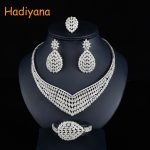 Hadiyana Fashion Floral Bridal Wedding <b>Jewelry</b> Sets With Clear Zincons New Flower Women Engagement <b>Jewelry</b> <b>Accessories</b> Set CN754