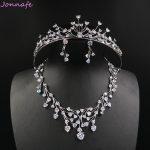 Jonnafe Luxury AAA Zirconia Wedding Necklace Earrings Set Bridal <b>Accessories</b> Women Prom <b>Jewelry</b> Sets With Tiara