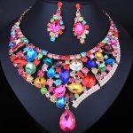 FARLENA <b>Jewelry</b> Full Multicolor Crystal Rhinestone Statement Necklace set for Wedding <b>Accessory</b> Women Dubai Bridal <b>Jewelry</b> sets