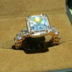 Real Solid 925 Silver & Rose gold Wedding Rings <b>Jewelry</b> for Women Square 3 Carat Sona CZ Diamant Engagement Ring <b>Accessories</b>