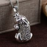 Deer King <b>jewelry</b> wholesale S925 Sterling Silver Pendant inlaid <b>antique</b> crafts Marcasite lucky dance