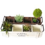 <b>Antique</b> Table Sundries Organizer Wooden Metal Storage Box Home Decor Flower Pot Storage Box Wooden <b>Jewelry</b> Holder Decor Craft
