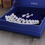 Micro Paved Full Zircon Tiara Earrings Set Copper Zircon Bridal <b>Jewelry</b> CZ Bride Crown Wedding Hair <b>Accessories</b> Mariage WIGO1042