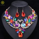 Crystal Bridal <b>Jewelry</b> Sets Gold/Silver Plated Swan Pendant Necklace Women Gift Party Wedding Prom Necklace Earring <b>Accessories</b>