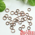 500G/PIECE Wholesale <b>Antique</b> IRON Based 4/5/6/8/10/12mm Opening Split Ring Accessories for <b>Jewelry</b> Making