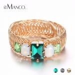 eManco Wholesale Luxury Big Bangles 3 Items Bangles for Women Elasticity Adjustable Mixed Color Bangle <b>Accessories</b> Brand <b>Jewelry</b>