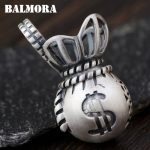 BALMORA 100% Real 990 Pure Silver Purse Pendants for Women Men Charms <b>Accessories</b> Thai Silver <b>Jewelry</b> Without a Chain SY14357
