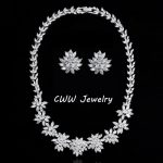 CWWZircons Luxury Cubic Zircon Necklace and Clip Earrings Sets For Wedding Party CZ <b>Jewelry</b> <b>Accessories</b> T149