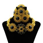Luxury Dubai <b>Jewelry</b> Sets Women Crystal Gold Wedding <b>Accessories</b> Flower Necklace Wedding African Beads <b>Jewelry</b> Set Costume