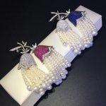 natural fresh water pearl tassels brooch pins 925 <b>sterling</b> <b>silver</b> with cubic zircon convallaria majalis brooch fashion <b>jewelry</b>