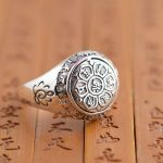 Deer King <b>jewelry</b> silver ring S925 Sterling Silver six Buddhist mantra <b>antique</b> polishing process explosion models