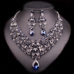 Fashion Necklace Earring Sets Vintage Bridal <b>Jewelry</b> Sets Rhinestone Party Wedding Costume <b>Accessories</b> Decoration Bride Women