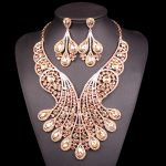 Fashion Crystal Bridal <b>Jewelry</b> Sets Wedding Party Costume <b>Accessory</b> Indian Necklace Earrings for bride jewellery sets gift Women