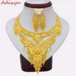 Adixyn 2018 Arab Dubai Party Necklace/Earrings <b>Jewelry</b> set Gold Color & Copper African Gifts Bride Wedding <b>Accessories</b>
