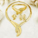 2018 African Fashion New Gold Long <b>Jewelry</b> Sets Bride Wedding Crystal Necklace Earrings Italy Women Party <b>Jewelry</b> <b>Accessories</b>