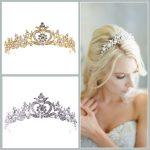 Stunning <b>Art</b> <b>Deco</b> Alloy Rhinestones Crystal Wedding Tiara Headband Bridal Princess Crown Hair Accessories Bridesmaids <b>Jewelry</b>