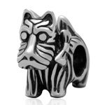 Scottie Dog Beads <b>Antique</b> 925 Sterling Silver Animal Charms fit DIY Chamilia Style Snake Chain Bracelet <b>Jewelry</b>