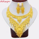 Adixyn 2018 Luxury Dubai Necklace/Earrings <b>Jewelry</b> set Gold Color & Copper African/Arab Gifts Bride Wedding <b>Accessories</b>