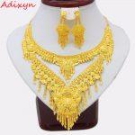 Adixyn 2018 Luxury Dubai Necklace/Earrings <b>Jewelry</b> set Gold Color & Copper African/Arab Gifts Bride Wedding <b>Accessories</b>