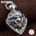 BALMORA 100% Real 925 Sterling Silver Hyperbole Pendants for Men Gift Vintage <b>Jewelry</b> Bell <b>Accessories</b> Without a Chain SY14058