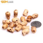 Gem-inside 9x13mm Natural <b>Antique</b> Carved Bone Skull Beads For Halloween <b>Jewelry</b> Making Decoration Sphere Bulk 17pcs DIY