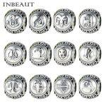 INBEAUT 100% 925 Sterling Silver Constellation Sign Beads Women <b>Antique</b> Lovely Animal Charm fit Pandora Bracelet DIY <b>jewelry</b>