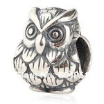 1PCS/lot <b>Antique</b> 925 Sterling Silver European Owl Charms Beads Fits Bracelets <b>Jewelry</b>
