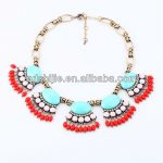 Trendy <b>Antique</b> Gold Statement Necklace Women with Rhinestone Pendant Brand <b>Jewelry</b>