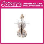 100pcs/lot / Flower Girl <b>Jewelry</b> Clear Crystal Luxury Cute Violin Musical <b>Art</b> <b>Deco</b> Bridal Brooch Pin