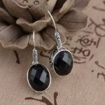 Deer King Silver Earrings <b>Jewelry</b> Wholesale S925 silver inlaid Black Onyx Earrings <b>antique</b> crafts